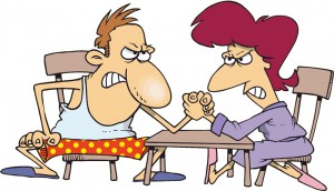 cartoon-couple-arm-wrestling